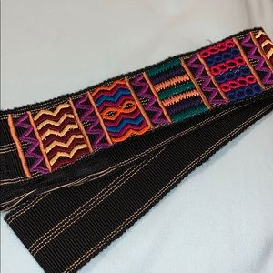 Free People Colorful embroidered belt